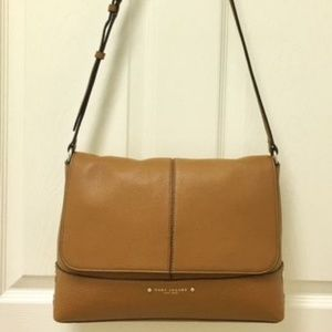 Marc Jacobs Tan Leather Crossbody Messenger Bag